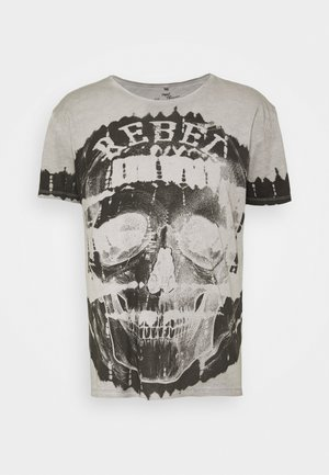 REBEL ROUND - T-shirts med print - silver