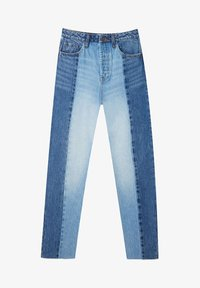 Stradivarius - PATCHWORK - Džíny Straight Fit - blue - 4