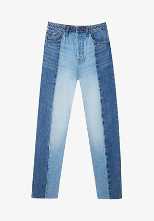 PATCHWORK - Straight leg jeans - blue