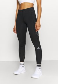 adidas Performance - HOW WE DO - Leggings - black/grey six - 0