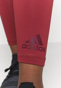 adidas Performance - Leggings - legend red/maroon - 5