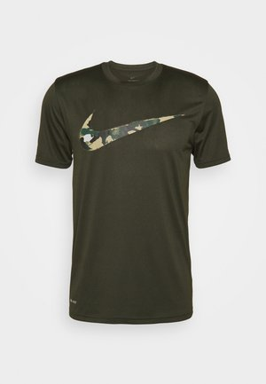 DRY TEE CAMO - T-shirt con stampa - sequoia