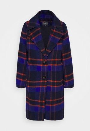 ONLTAYLOR CHECK WOOL COAT OTW - Classic coat - sodalite blue/scarlet ibis