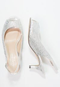 Paradox London Pink - WIDE FIT CELESTE - Peep toes - silver glitter - 2
