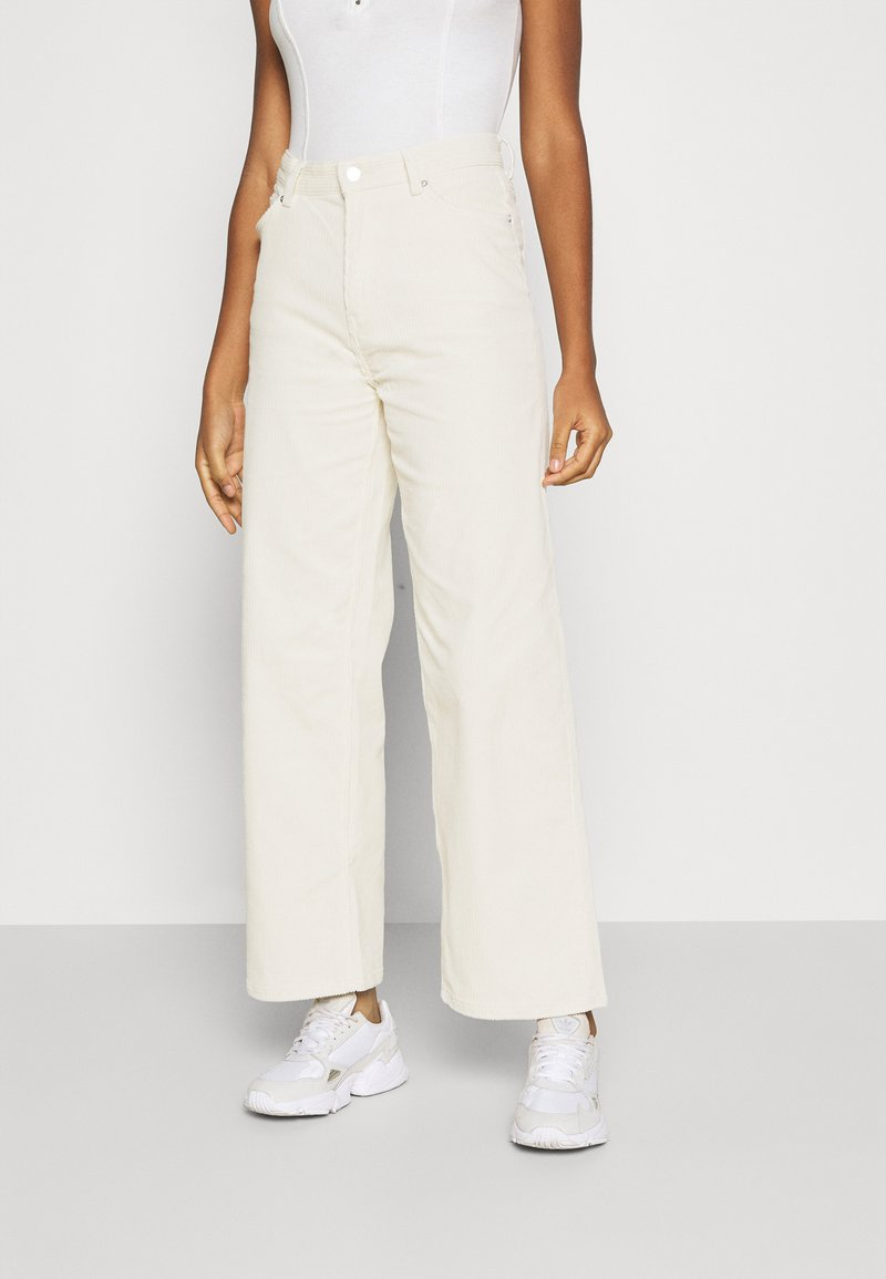 Weekday - LASHES TROUSERS - Trousers - cream