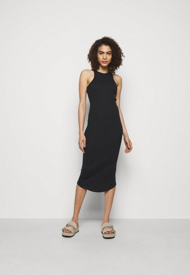 THE ESSENTIAL TANK DRESS - Maxi-jurk - black