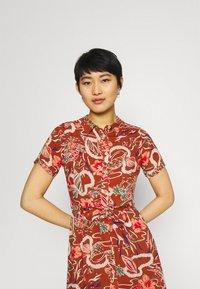 King Louie - ROSIE DRESS MIDI - Shirt dress - coconut brown - 3