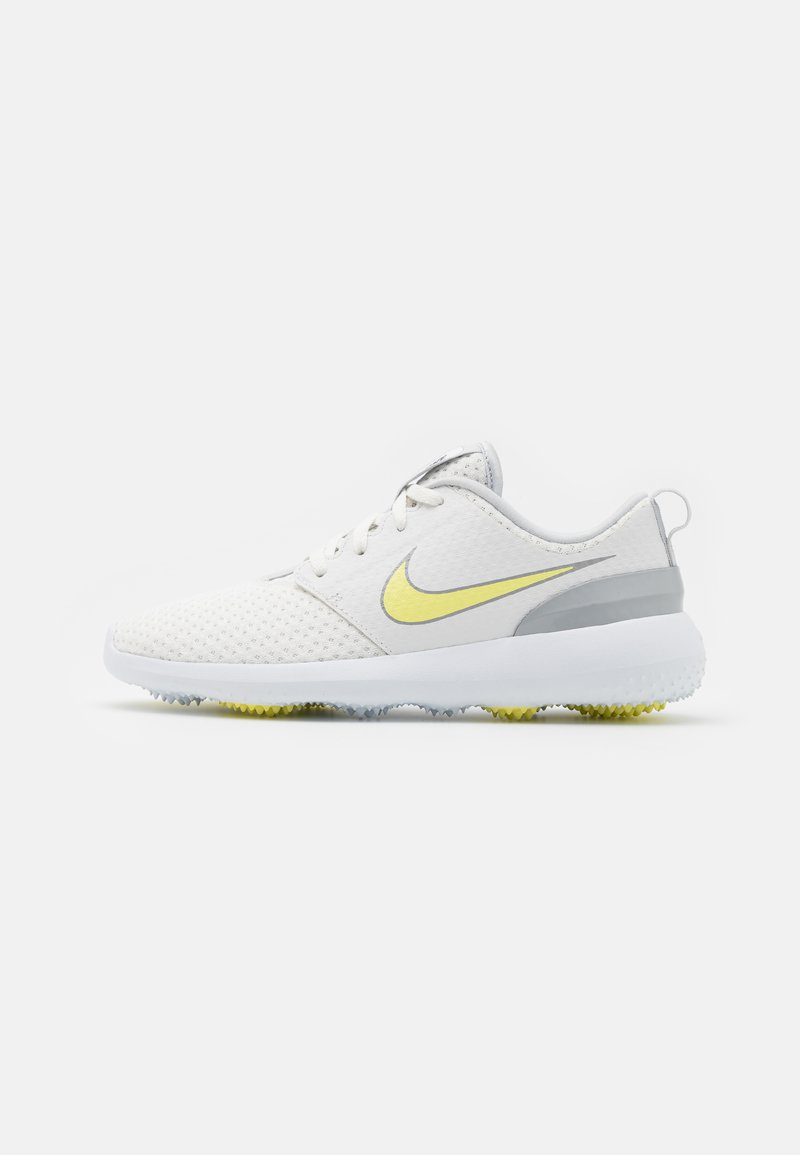 Nike Golf - ROSHE - Golfschoenen - summit white/light zitron-white