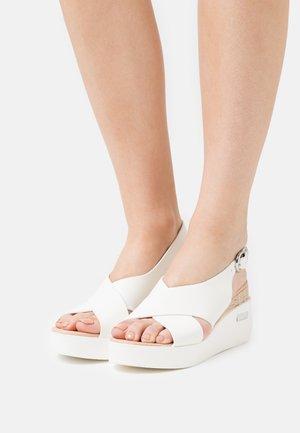 SUNDIAL - Platform sandals - white