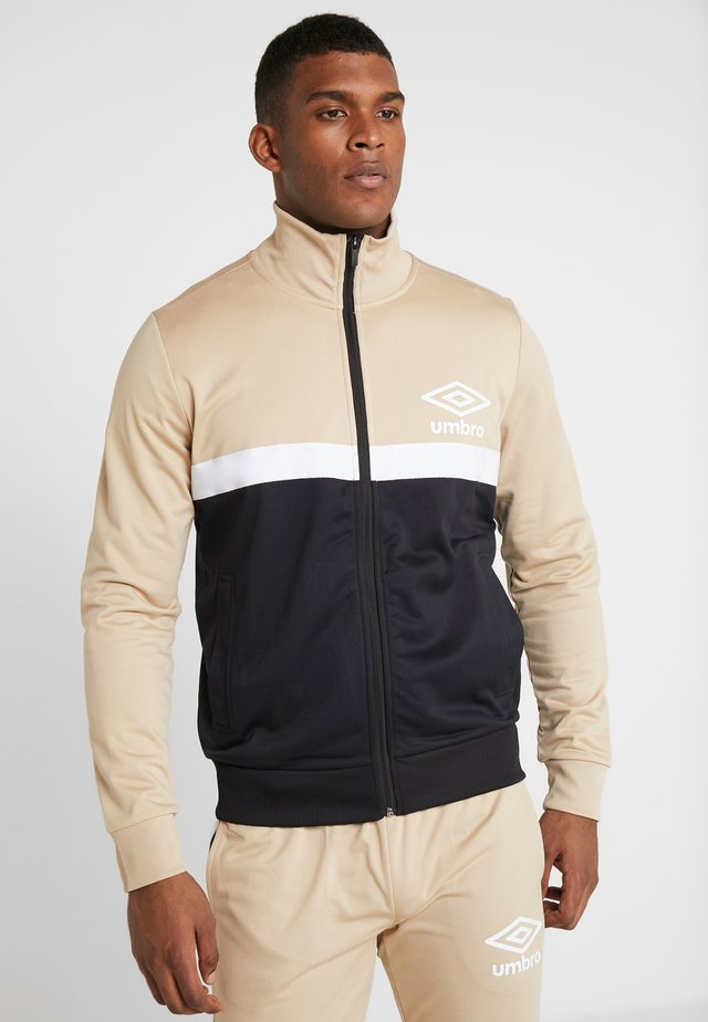 PANELLED TRACK - Sportovní bunda - black /brilliant white