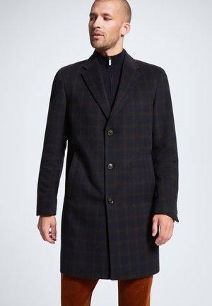 LAWSON - WOLLMANTEL/KLASSISCHER MANTEL - Classic coat - dunkelblau gemustert