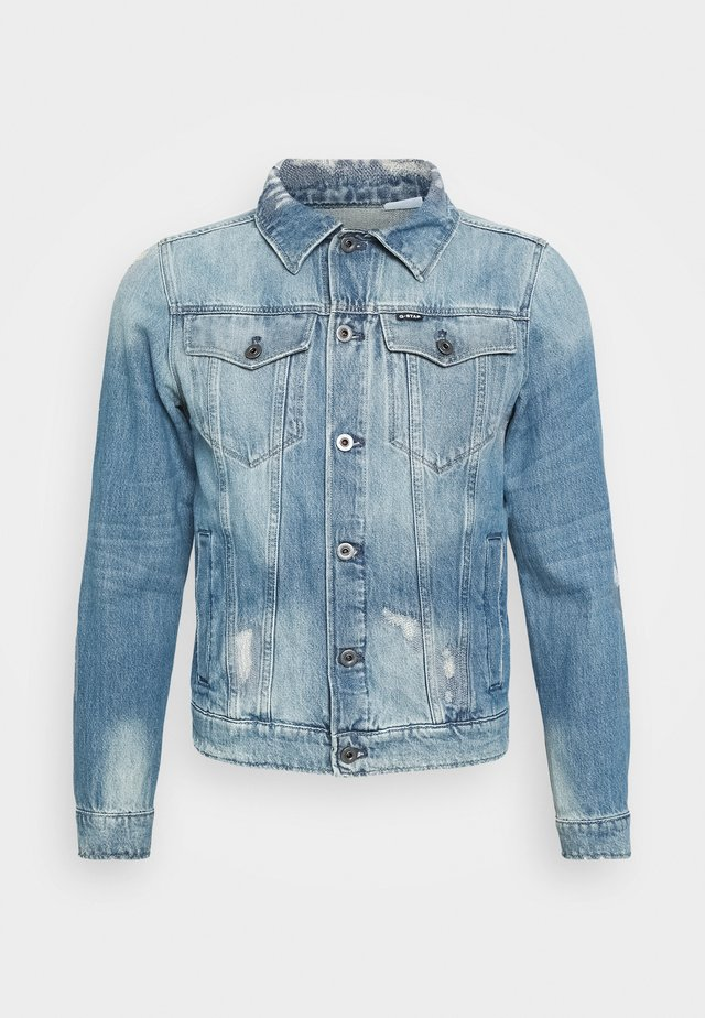 3301 SLIM TAPE RESTORED JKT - Denim jacket - kir denim o - medium aged tape restored