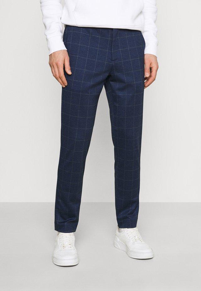 CLUB PANTS CHECK - Trousers - blue