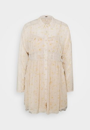 SHEER ROMANCE MINI DRESS - Shirt dress - tea combo