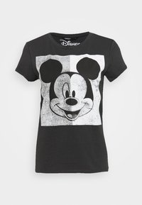 ONLY - MINNIE FACE  - T-shirts med print - dark grey - 1