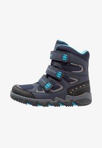 Hi-Tec - THUNDER WP  - Hiking shoes - navy/turquoise/black - 1
