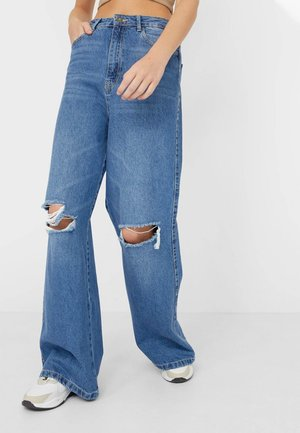 Jeans bootcut - mottled light blue