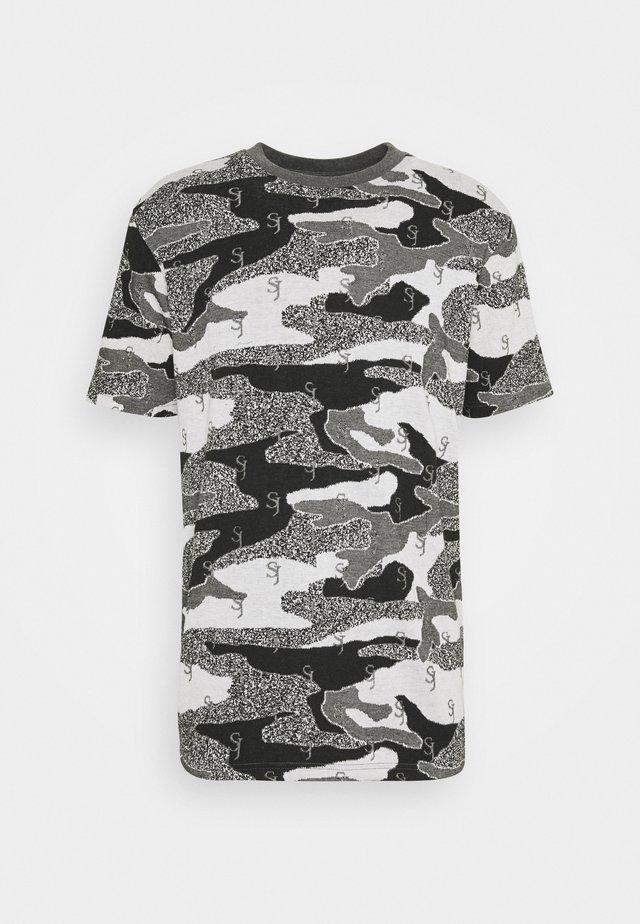 JACQUARD - T-shirt imprimé - black