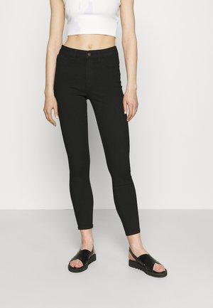JDYTULGA LIFE HIGH SKINNY MIX  - Jeans Skinny Fit - black denim