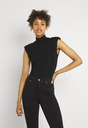 MOCK NECK POWER BODYSUIT - T-shirts med print - black