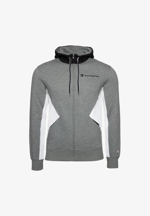 Zip-up hoodie - ngam-wht-nbk