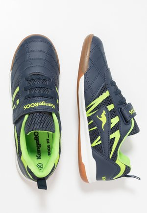 COURT - Trainers - dark navy/lime