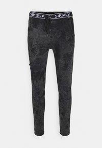SIKSILK - DISTRESSED ELASTICATED  - Jeans Skinny Fit - black - 3