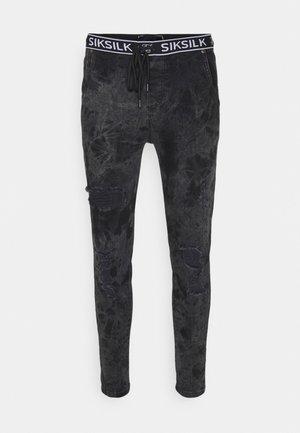 DISTRESSED ELASTICATED  - Jeans Skinny Fit - black
