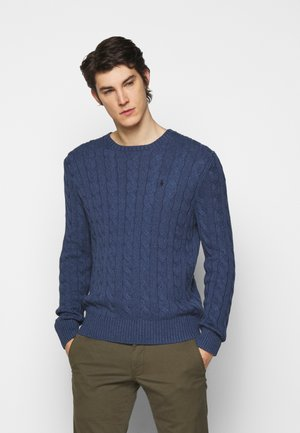 CABLE - Maglione - derby blue heather