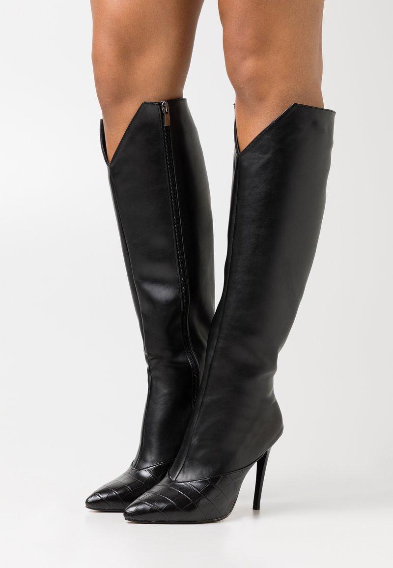 Trendyol - Boots med høye hæler - black