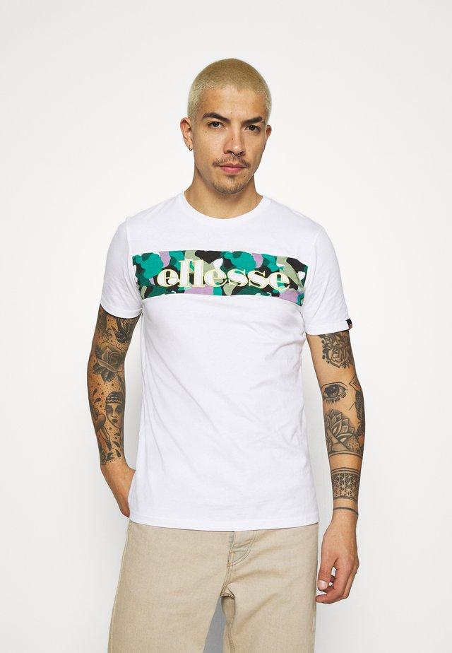 MORELA - Camiseta estampada - white