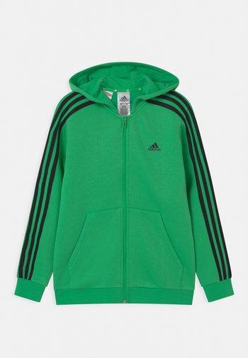 UNISEX - Zip-up sweatshirt - semi screaming green/black