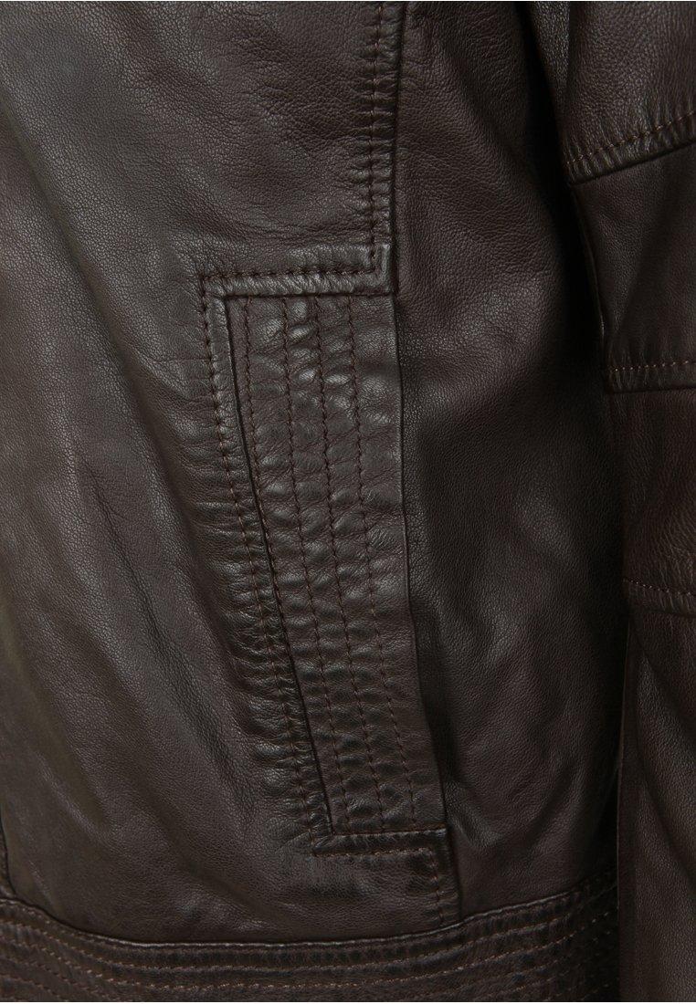 H.I.S DAVID - Veste en cuir - brown