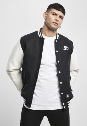 COLLEGE - Bomber bunda - black/white
