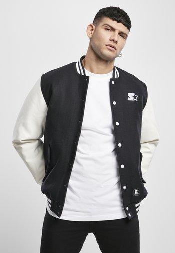 COLLEGE - Bomber Jacket - black/white