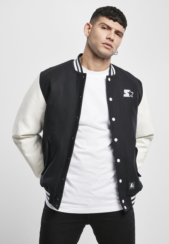 COLLEGE - Blouson Bomber - black/white