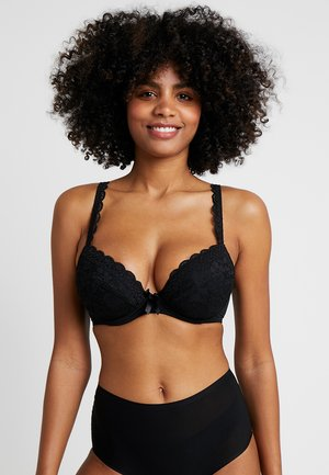 REBEL PADDED PLUNGE BRA - Biustonosz push-up - black