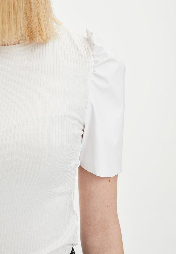 DeFacto T-shirt z nadrukiem - ecru/mleczny DWKH