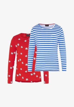 2 PACK - Long sleeved top - red/white