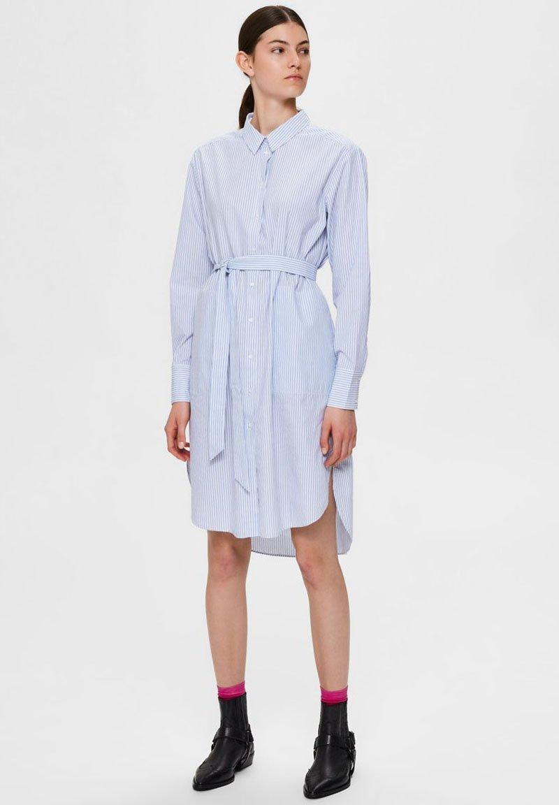 Selected Femme - BIO-BAUMWOLL - Robe chemise - blue yonder