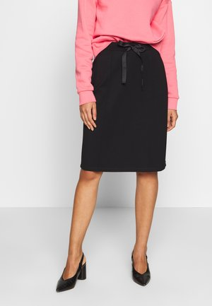 HIGH WAIST SKIRT IN CLEAN QUALITY - Pencil skirt - black