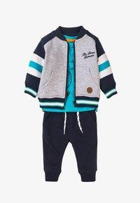 MINOTI - 3 SET - Zip-up sweatshirt - dark blue light blue grey - 0