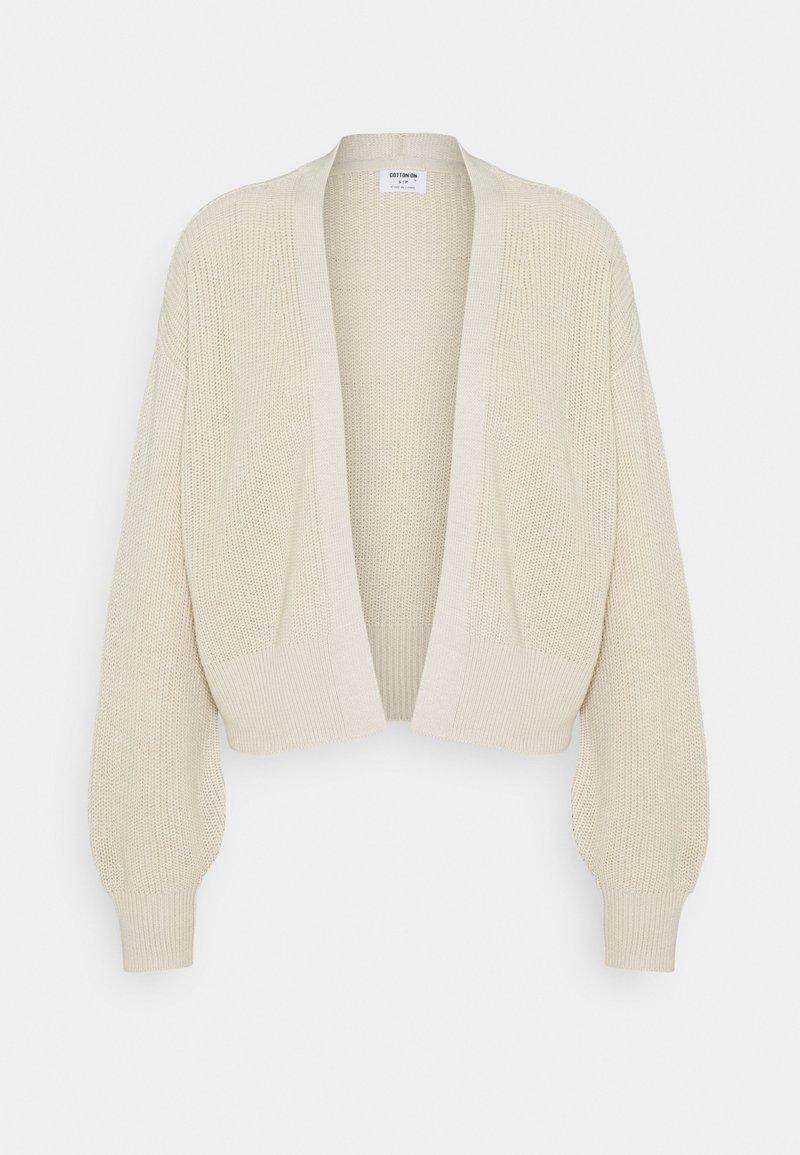 Cotton On - ARCHY SUMMER CARDI - Cardigan - beige