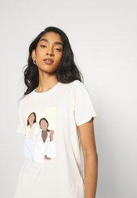 Gina Tricot - IDA TEE - T-shirts print - ecru - 3