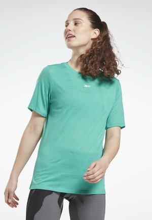 BURNOUT - T-shirt con stampa - turquoise