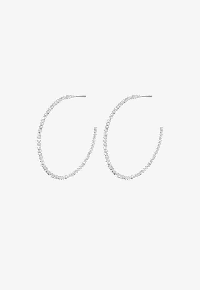 BUBBLE HOOP - Oorbellen - rhodium plating