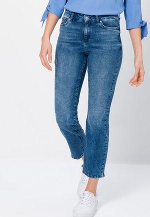 Straight leg jeans - mid blue destroy