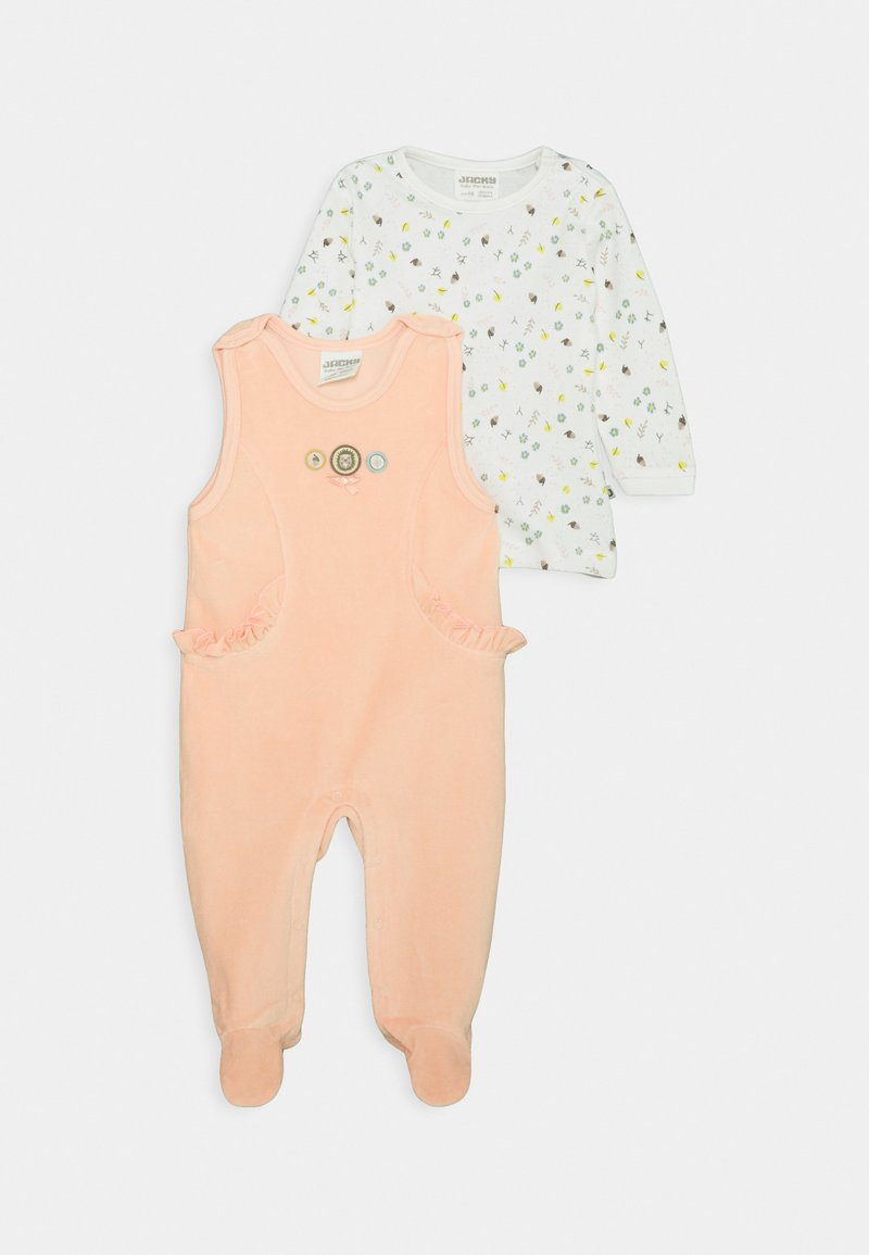 Jacky Baby - WOODLAND SET - Overal - altrosa/off white