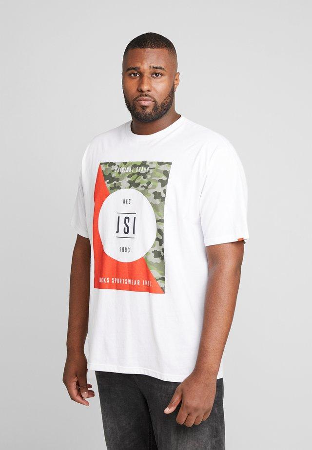 ONECK PRINT - T-shirt z nadrukiem - white