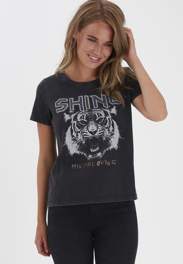 BYSANLA  - T-shirts print - black